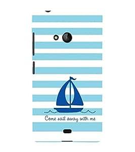EPICCASE Sail With Me Mobile Back Case Cover For Nokia Lumia 540 (Designer Case)
