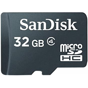 SanDisk Scheda di Memoria MicroSDHC 32 GB Classe 4 [Imballaggio apertura facile di Amazon]