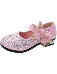 Zhuhaitf Alta calidad Girls Kids Glitter Low Heels Sweet Princess Dress Shoes Party Shoes
