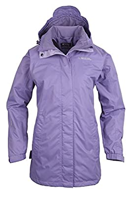 Mountain Warehouse Guelder Womens Winter Long Jacket - Waterproof Rain Coat, Zipped Ladies Coat, Taped Seams, Pack Away Hoodie, Casual Jacket - For All Season Travelling