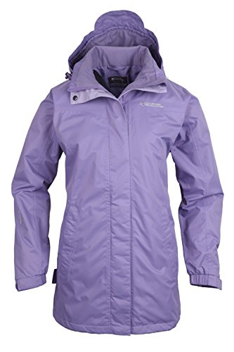 Mountain Warehouse Guelder Womens Winter Long Jacket - Waterproof Rain Coat, Zipped Ladies Coat, Taped Seams, Pack Away Hoodie, Casual Jacket - For All Season Travelling