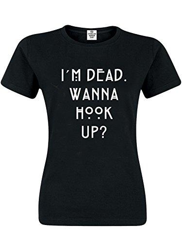American Horror Story Wanna Hook Up Damen T-Shirt Schwarz, Größe:XL (American Horror Story Coven)