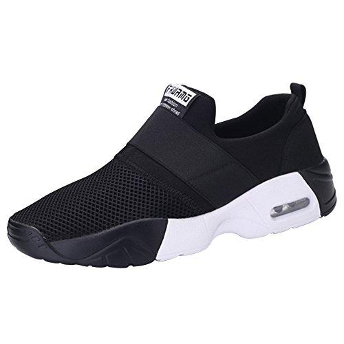 wealsex Baskets Sans Lacets Mesh Respirant Sports Running Fitness Gym Chaussures de Multisports Outdoor Chaussures de Coussin D'Air Homme Femme 35-44
