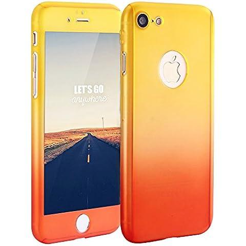 SURPHY iPhone 7 Custodia,[Copertura completa, protezione libera dello schermo] Custodia