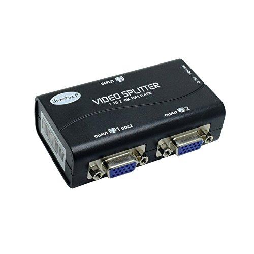 VGA Splitter 2 Port VGA Splitter Box USB Powered HD Splitter Unterstützung 1920x1400 250 MHZ (Usb Powered Vga-splitter)
