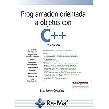 Programación orientada a objetos C++ (5ª edición 2018)