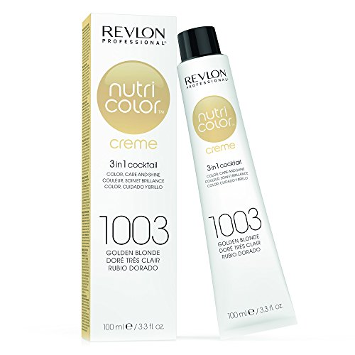 Golden Blonde (REVLON PROFESSIONAL Nutri Color Crème, Nr. 1003 Golden Blonde, 1er Pack (1 x 100 ml))
