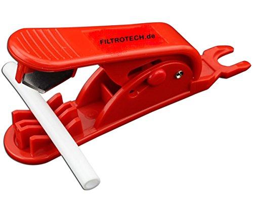Schlauch-messer (CUT-R Schlauchschneider für Kühlschrankschlauch aus Kunststof, PVC, PU, PP. Schlauchabschneider für 1 bis 15mm Ø Schlauch, Wasserschlauch, PC Wasserkühlung Schläuche)