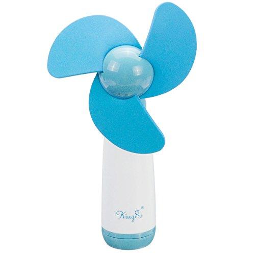 KINGSO Mini Portable Poche Ventilateur Main Refroidissement Muet Fan pour Voyage Sport BLEU