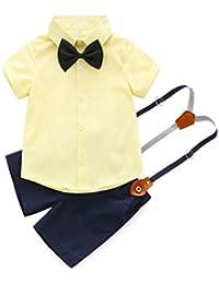24c9265b3 PAOLIAN Conjuntos para Bebe Niños Camisas y Pichi Verano 2018 Ropa para  Recién Nacidos Niños Boda Monos Traje Fiestas Pajarita Bautizo…