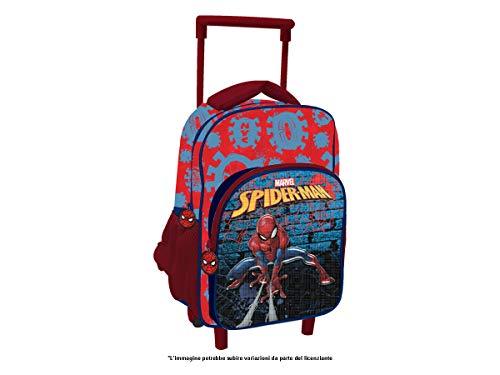 MCM Zaino Trolley Digit Premium Spiderman Zainetto per Bambini, 30 cm, Rosso/Blu