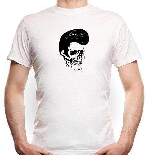 Certified Freak Rockabilly Skull T-Shirt White L