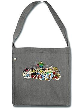 Spreadshirt Asterix & Obelix - Attacke Schultertasche aus Recycling-Material