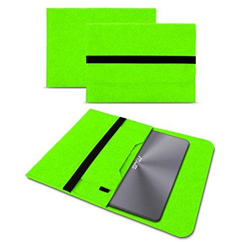 Deluxe Leder-notebook (UC-Express Sleeve Hülle kompatibel für Asus ZenBook 3 Deluxe Tasche Filz Notebook Cover 14 Zoll Laptop Case Schutzhülle, Farbe:Grün)