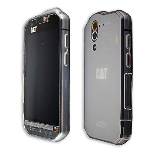 caseroxx Hülle/Tasche TPU-Hülle transparent + Bildschirmschutzfolie für CAT S60, Set bestehend aus TPU-Hülle & Bildschirmschutzfolie
