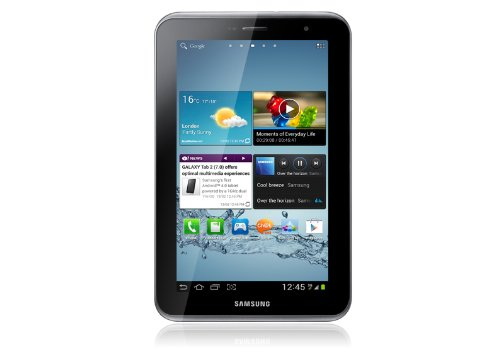 Samsung Galaxy Tab 2 P3110 WIFI Tablet (17,8 cm (7 Zoll) Display, 1GHz Prozessor, 1GB RAM, 8 GB Speicher, 3,0 Megapixel Kamera, Android) titanium-silber - Samsung 2012 Tablet