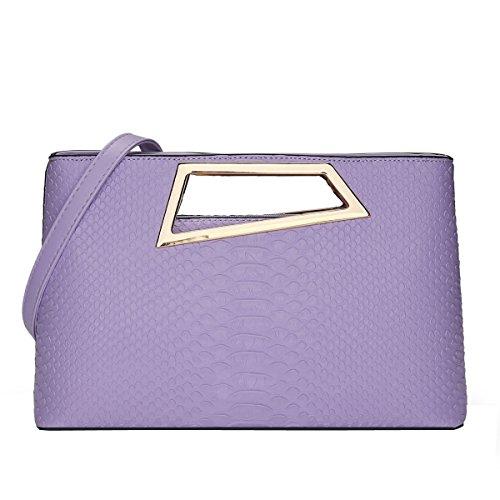 DISSA S811 neuer Stil PU Leder Deman 2018 Mode Schultertaschen handtaschen Henkeltaschen,310×95×195(mm) Violett