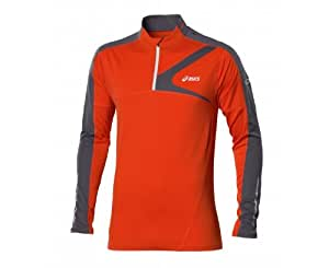 ASICS Herren Langärmliges Laufshirt 1/2 Zip, cone orange/iron, XXL, 421212