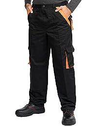 af222808447297 Mazalat® Pantalons de Travail pour Hommes avec des Poches genouillères,  Pantalon Cargo Homme Multi