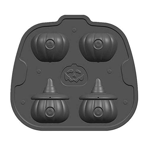 Prevently 3D Halloween Kürbis Eiswürfel,Silikon eiswürfelbehälter Geschenke Eiswürfelformen Kürbis Eiswürfel Kürbis Kopf Schimmel Eiswürfelschale Form