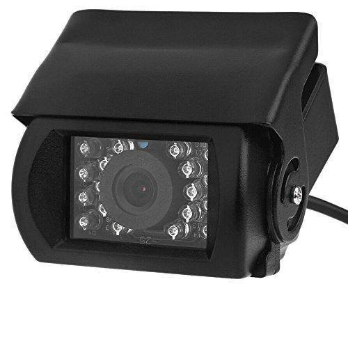 Jamicy® Auto Einparkhilfe Autoparksysteme Rückfahrkamera-Set, 170° Weitwinkel wasserdichte Aluminium Rückfahrkamera mit 18 IR LED, IP67 wasserdicht, Nachtsicht für SUV, Bus, KfZ, Pickup