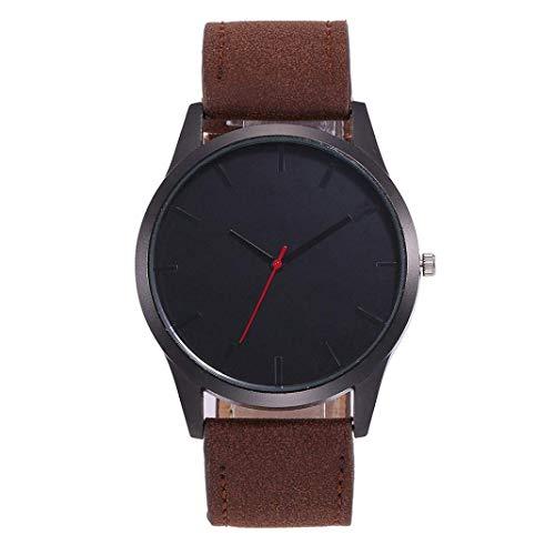 25-FANYUHONG Herren Damen Denim Leder Uhr, Armbanduhr Business Casual Retro Style ue Quarzuhren (Womens-business-watch-designer)
