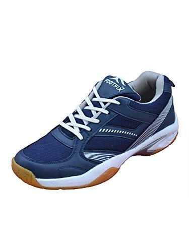 Footfix Spectrum Unisex (Non Marking) PU Badminton Shoes Navy Size 8
