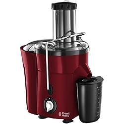 Russell Hobbs 20366-56 Entsafter Desire, extra große Einfüllöffnung, 700ml Saftbehälter, 2.0l Fruchtfleischbehälter, rot/schwarz