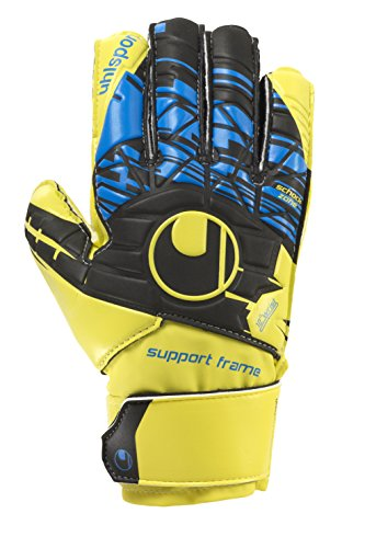 uhlsport Messieurs Speed Up Soft SF Junior Gants de Gardien de But, Homme, Speed Up Soft SF Junior, Lite Fluo Gelb/Schwarz