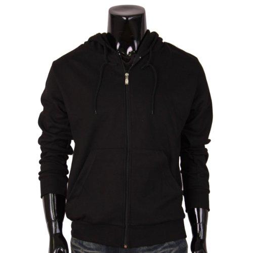 BCPOLOHerren Kapuzenpullover, Einfarbig Schwarz Schwarz (T-shirt Schwarzes Doppelseitiges)
