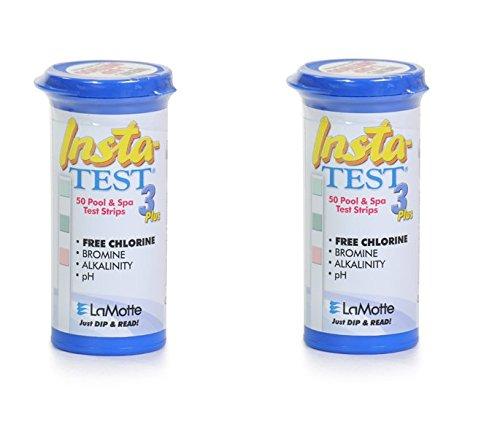 Insta-Test 3Plus piscine et spa Bandelettes Test pour chlore ou brome 2x 50