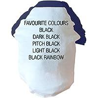 Colori preferiti Nero Scuro Nero Pitch, colore nero luce arcobaleno due Toned Cane Gilet rosa o blu