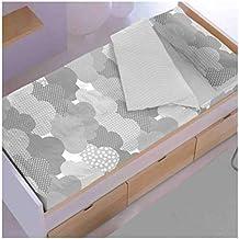 New Cotton Saco nórdico con Relleno Nubes Gris para Cama 90 x 190/200 con