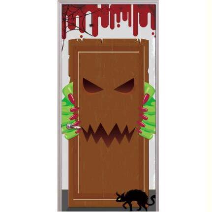 Halloween Wandaufkleber Essen Monster Tür Kreative 3D Tür Aufkleber Persönlichkeit Holz Tür Wohnkultur