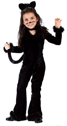 Fun World Costumes Baby Girl's Toddler Playful Kitty Costume, Black, Small (Black Kitty Kostüm Baby)