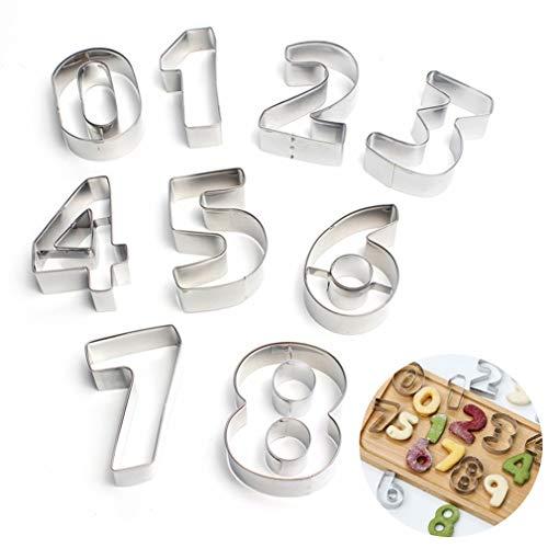 Joyeee 9 Stück 3D Ausstecher Ausstechformen Set aus Edelstahl - Kuchendekoration Ausstechformen Backen Küche Zubehör - Obst Gemüse Sandwich Toast Brot Form Cutter Backform Utensilien Modellierwerkzeug (Halloween Sugar Cookies Designs)