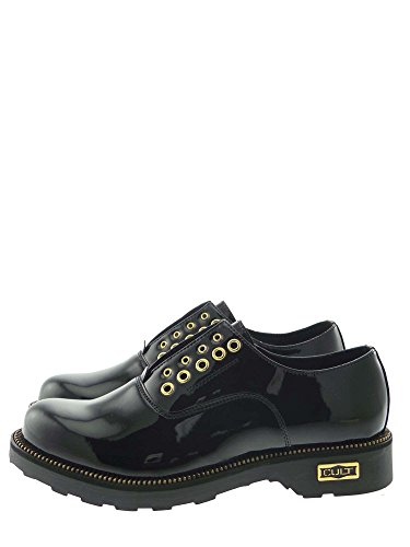 Cult CLE102260 Mocassino Donna Nero Con Accessori Oro 37