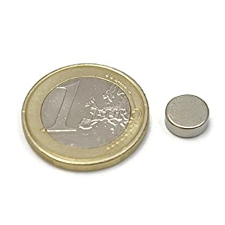 25 pieces of Neodymium Magnet – 8 mm Diameter x 3 mm THICK – Attraction of 1.2 Kg – 3600 Gauss