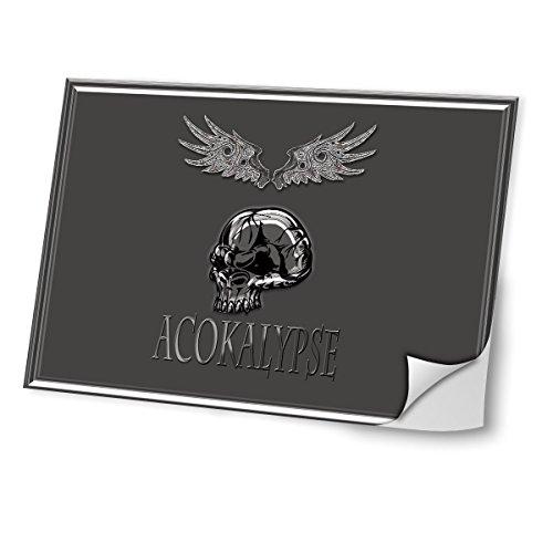 Halloween 10015, Skin-Aufkleber Folie Sticker Laptop Vinyl Designfolie Decal mit Ledernachbildung Laminat und Farbig Design für Laptop 14