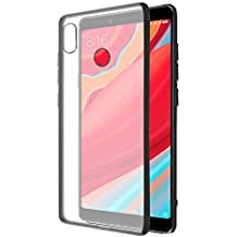 Amazon Brand - Solimo Redmi Y2 Mobile Cover (Hard Back & Black Flexible Bumper), Transparent