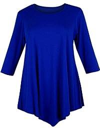 Bless - Camiseta sin mangas - Túnica - Básico - manga 3/4 - para mujer