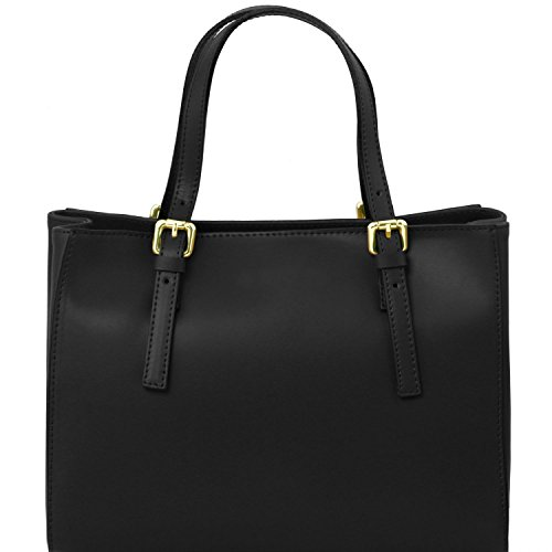Tuscany Leather Aura Borsa a mano in pelle Ruga Nero