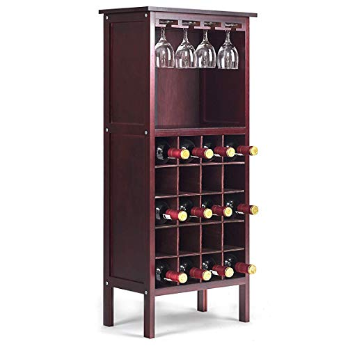 COSTWAY Botellero Vino Soporte 20 Botellas Madera