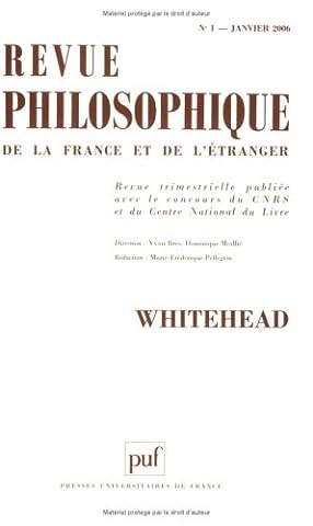 Didier Debaise - Revue philosophique, N° 1, Janvier 2006