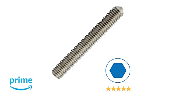 Gr/ö/ße M5 x 16 mm nach DIN 915 mit Innensechskant und Zapfen aus Edelstahl A2 // V2A Gewindestifte Madenschrauben ISK D2D VPE: 10 St/ück