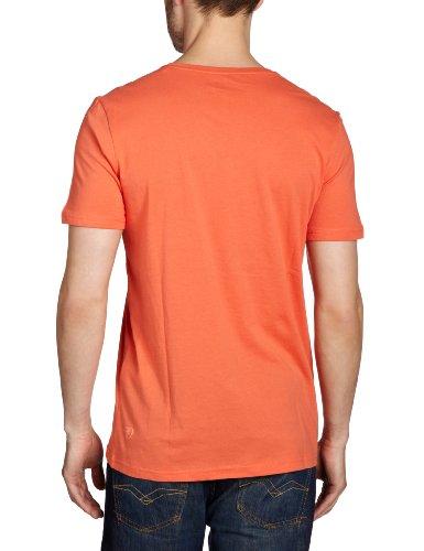 TOM TAILOR Denim Herren T-Shirt 10226520012/v-neck tee Orange (4169)