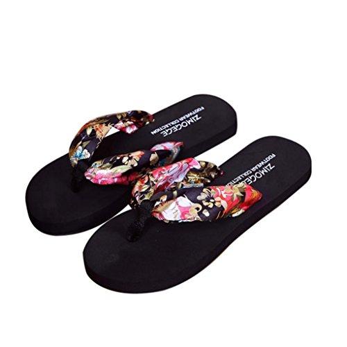 AmlaiworldPantofole di estate delle donne Indoor Outdoor Infradito Scarpe da spiaggia Nero