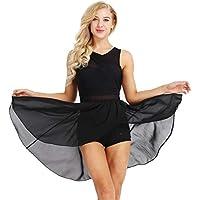 Agoky Robe de Danse Classique Robe de Ballet Latine Salsa Jazz Zumba Femme  Mousseline Justaucorps Danse 4bd2606cac6