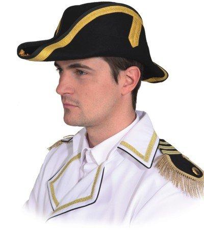 Orlob Zweispitz zum historischen Kostüm Pirat Napoleon Karneval (Für Erwachsene Napoleon Kostüm)