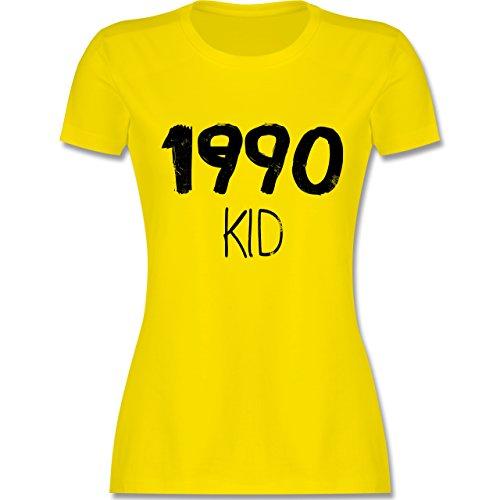 Geburtstag - 1990 KID - tailliertes Premium T-Shirt mit Rundhalsausschnitt für Damen Lemon Gelb